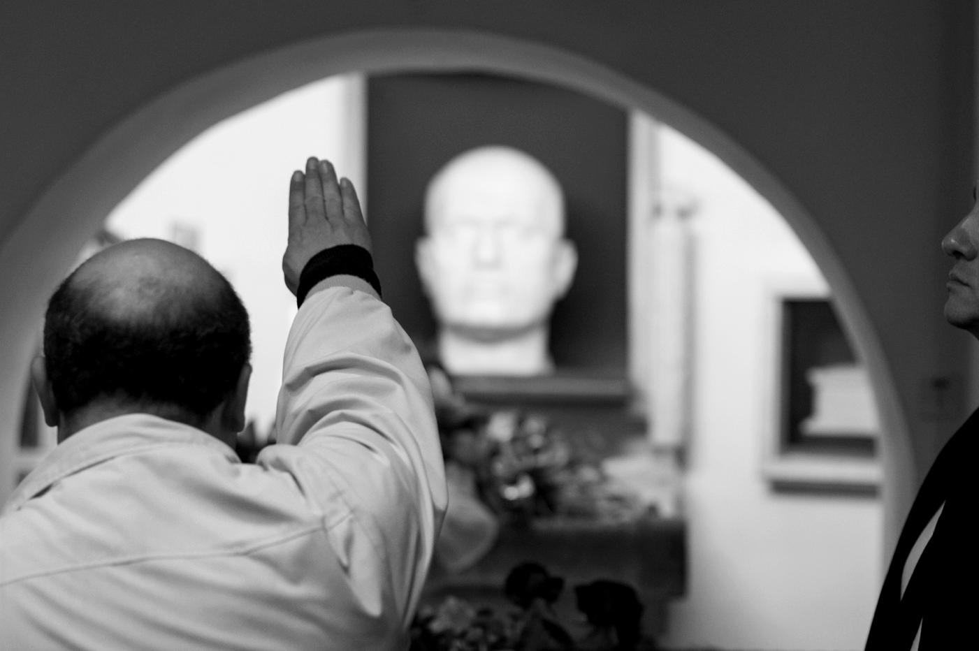 La cripta di Mussolini a Predappio (Foto: Francesco Fantini)